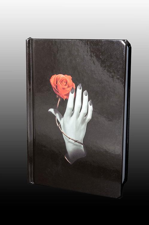 Carnet main à la rose