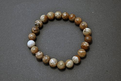 Bracelet Pierre - Bracelet jaspe paysage
