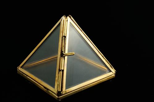 Pyramide à souhaits - Pyramide verre et laiton