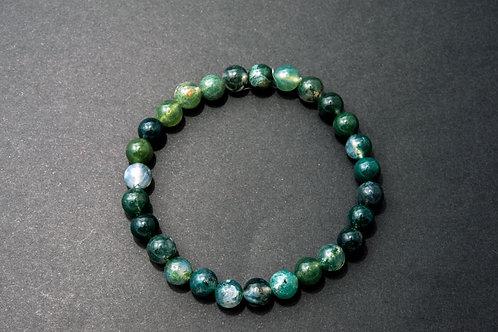 Bracelet pierre - Bracelet Agate Mousse