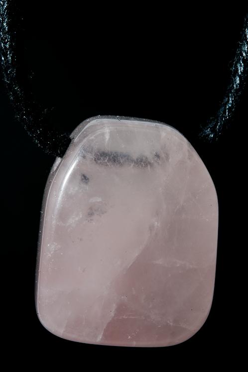 Pendentif pierre - Pendentif Quartz rose