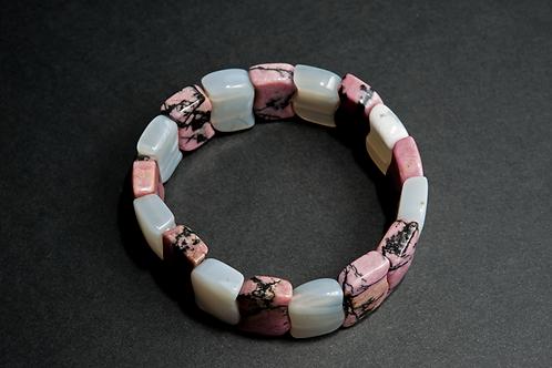 Bracelet Agate et Rhodonite