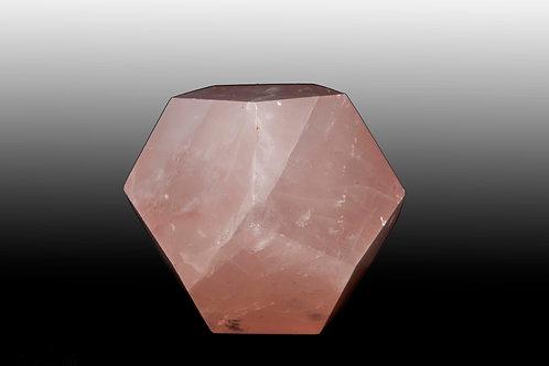 Dodécaèdre quartz rose