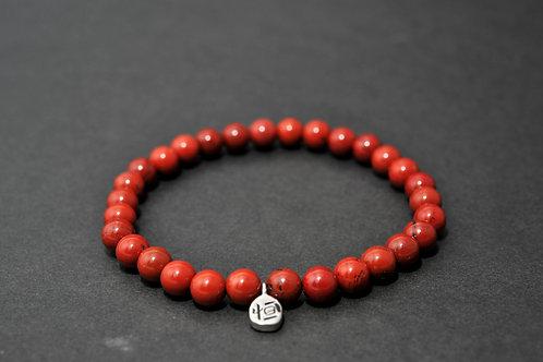 Bracelet Pierre - Bracelet Jaspe Rouge
