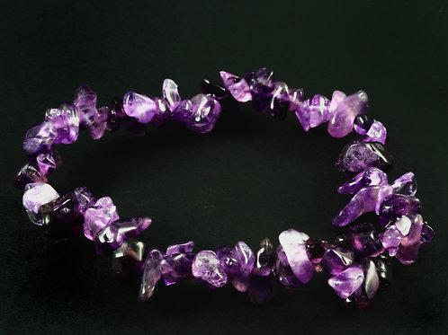 bracelet baroque améthyste