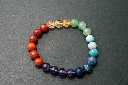 Bracelet 7 Chakras - Bracelet 7 Chakras vraies pierres