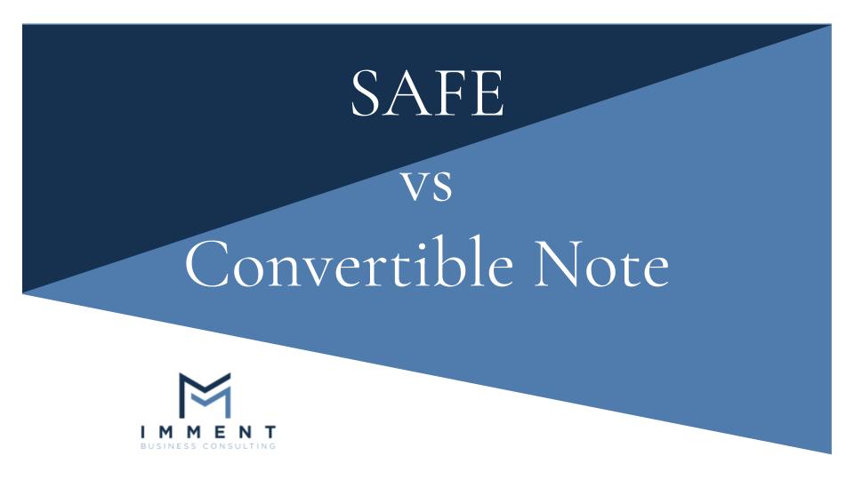 Confronto tra SAFE e Convertible Note, finanza alternativa, finanza aziendale