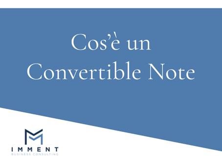 Cos'è un Convertible Note
