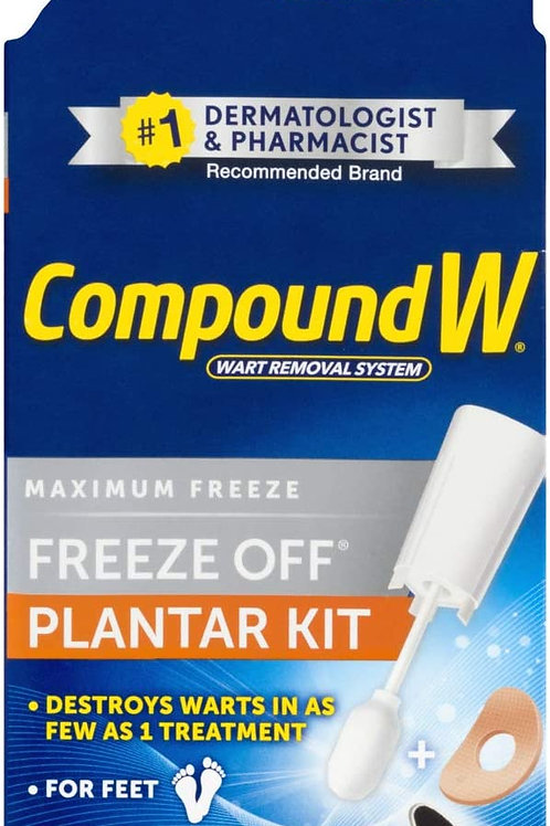 Compound W Freeze Off Plantar | Wart Removal & 8 Applications & 12 comfort pads