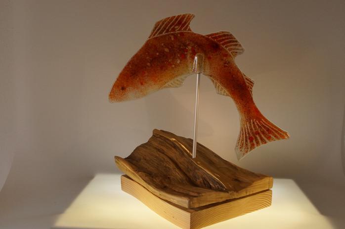 Springender Fisch, Recycling Glas