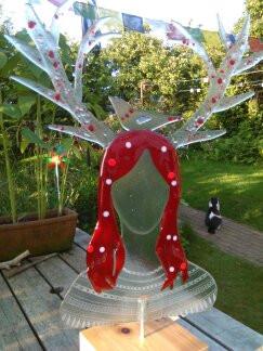 Göttin der Vögel, Recyclingglas