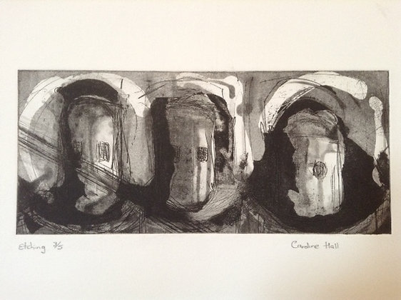 Etching of Three figures.
