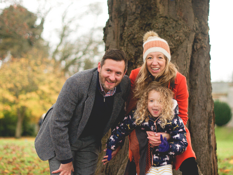 The Cook Family at Lauriston Castle  (not forgetting Hugo, too)