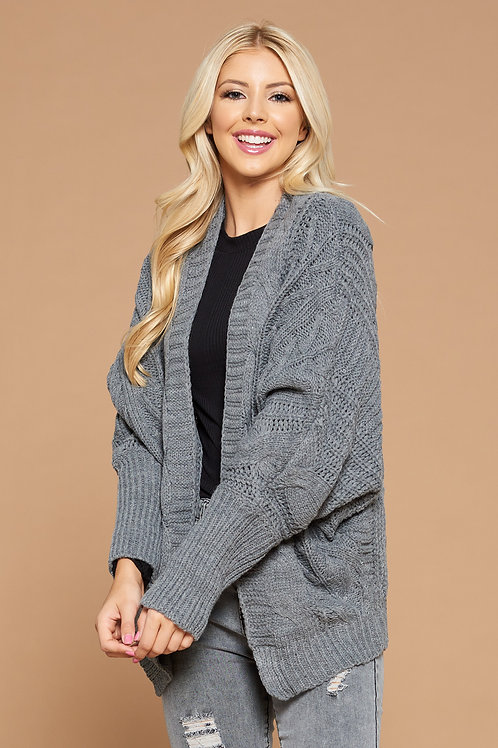 Cardigan With Sleeve Detail