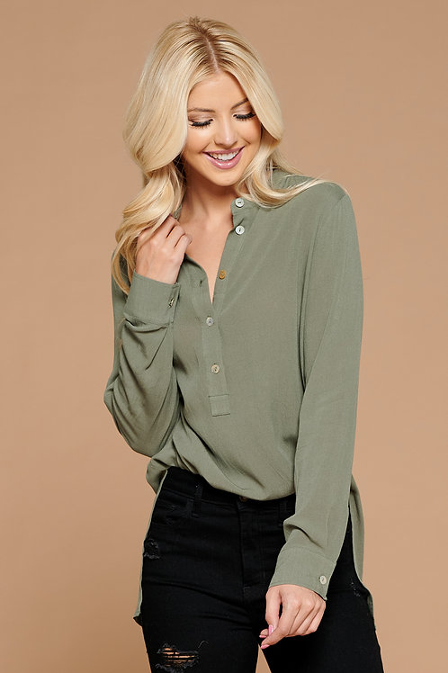 Olive Collar Blouse