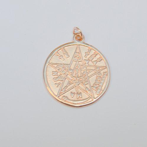Pingente Tetragrammaton Banho Rose