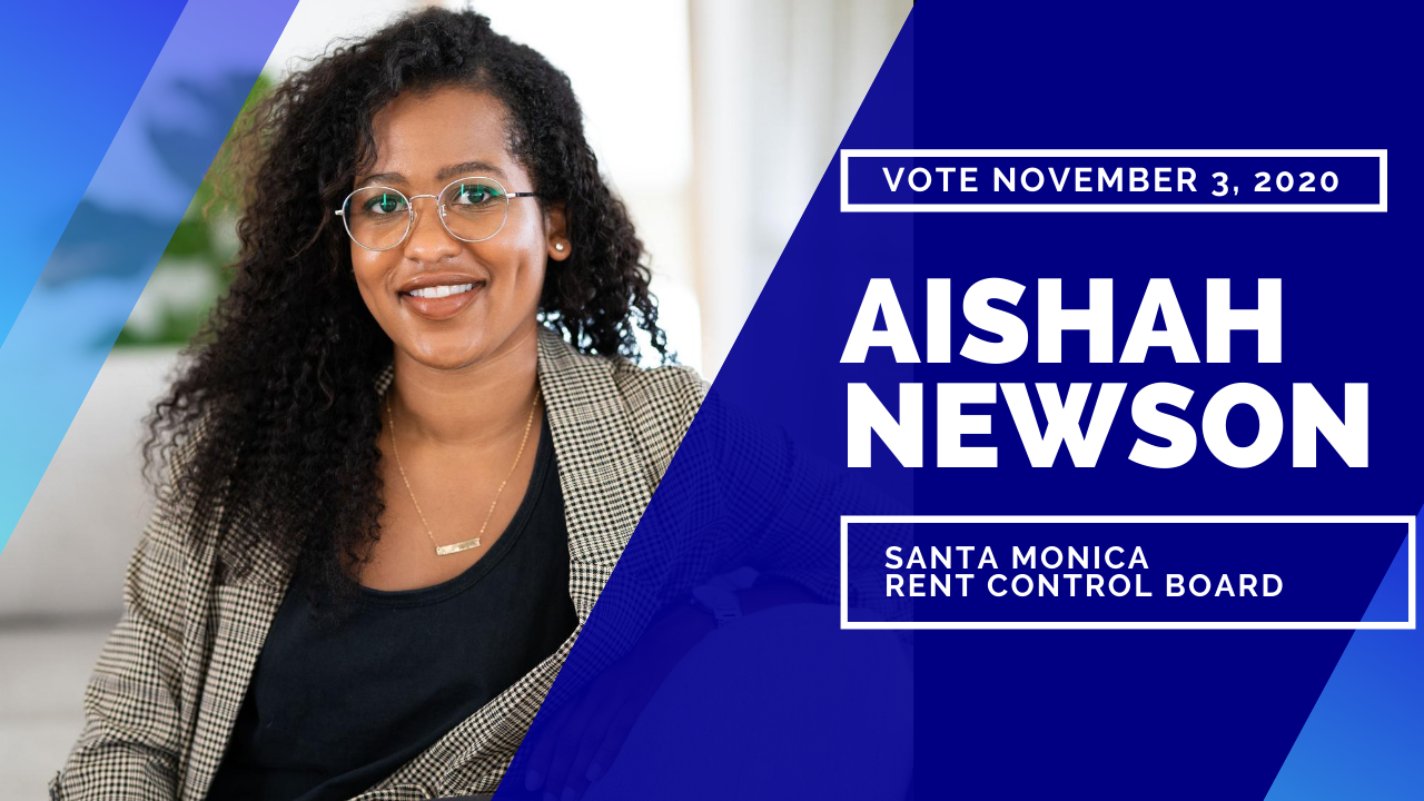 Aishah Newson For Santa Monica Rent Control Board