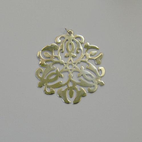 Pingente Mandala de Prata Estrela