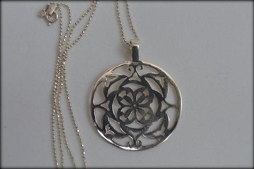 Mandala Floral de Prata