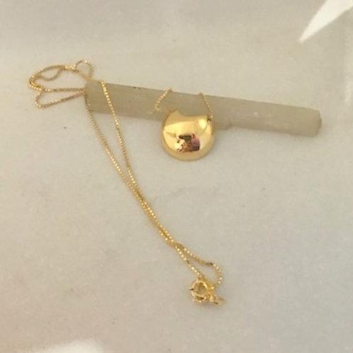 Colar difusor Prata com banho de ouro