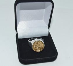 anel tetragrammato Prata com ouro