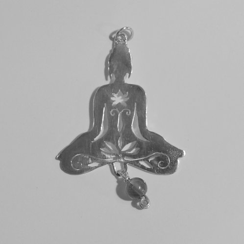 Pingente Yoga de Prata