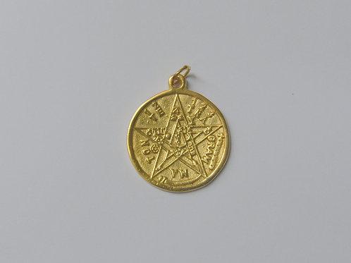 Pingente Tetragrammaton com Banho de Ouro