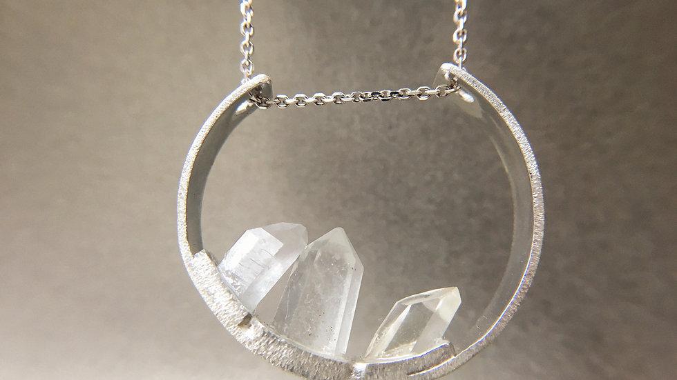 ' GÉODE ' | collier quartz hyalins