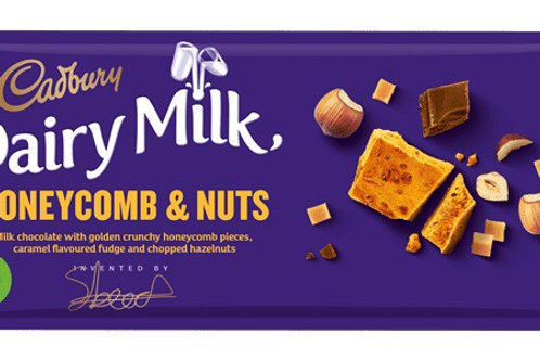 Dairy milk honeycomb and nuts 2 x 105g