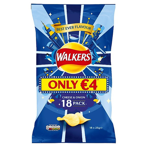 Walkers crisps Cheese and Onion 18pack