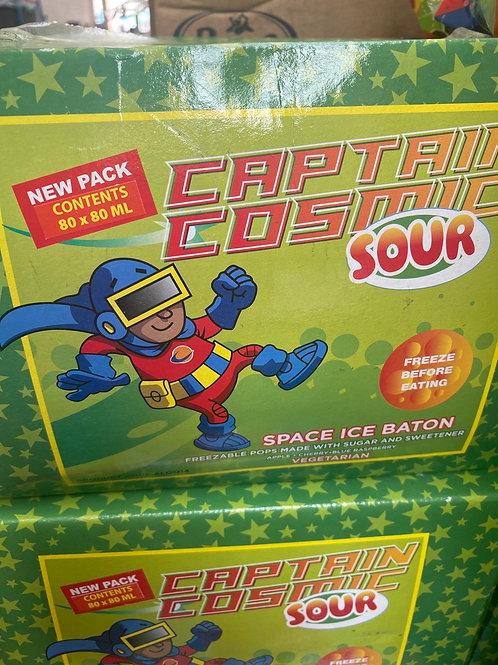 Captain cosmic sour ice baton pops  80x 80ml