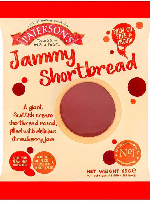 Patterson's jammy shortbread 4 x 65g