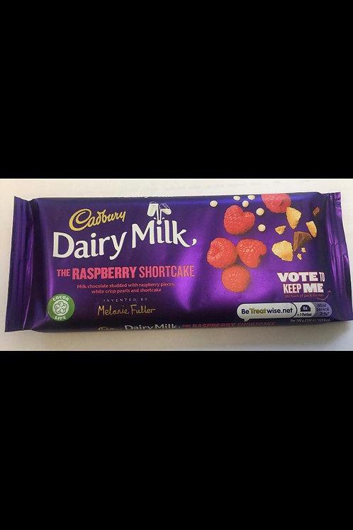 Cadbury dairy milk raspberry shortcake 110g 2 for