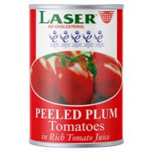 Laser plum tinned tomatoes 400g