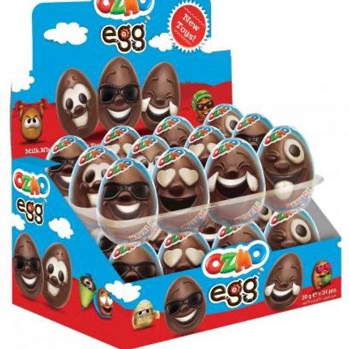 Ozmo chocolate face eggs 24x 20g