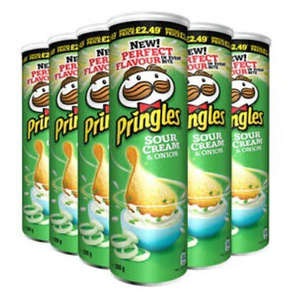 Pringles sour cream & onion 2 x 200g