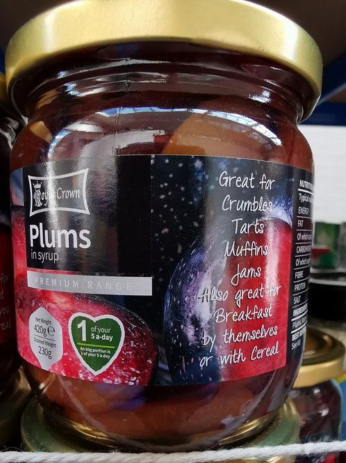 Plums in syrup