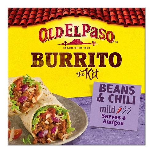 Old El Paso Burrito kit bean  and Chili 620g x 3