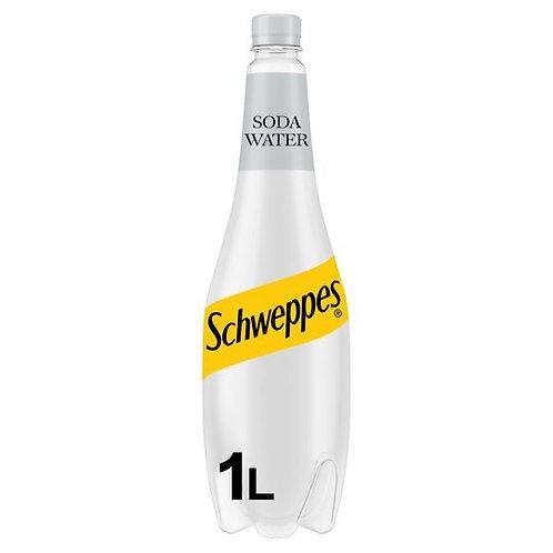 Schweppes soda water 6x 1ltr