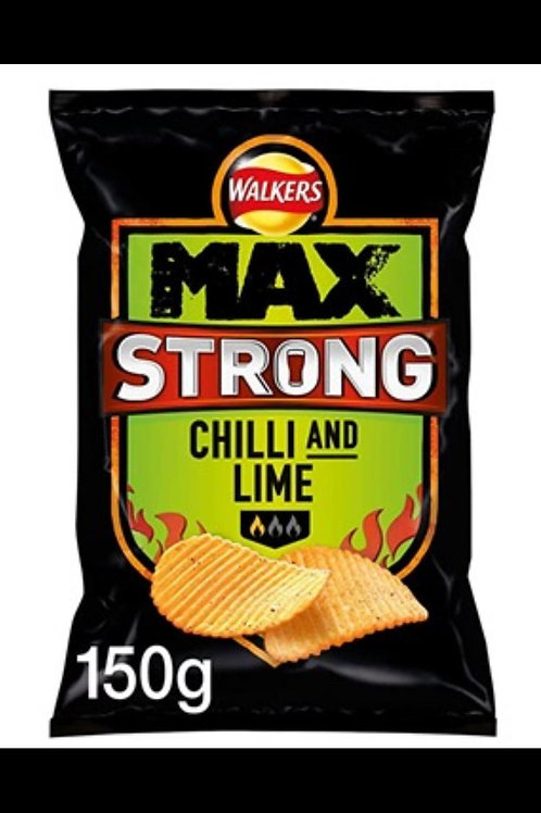 Walkers max strong chilli and lime 9 x 150