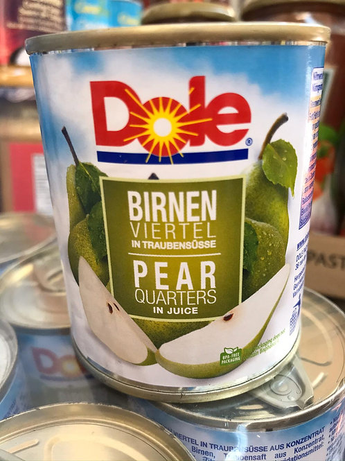 Dole pear quarters in juice 2 for