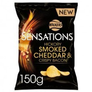 Walkers sensation hickory smoked Cheese and crispy bacon  2 x 150g