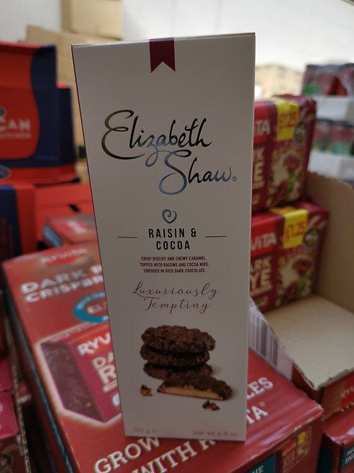 E/S  raisin & cocoa biscuits