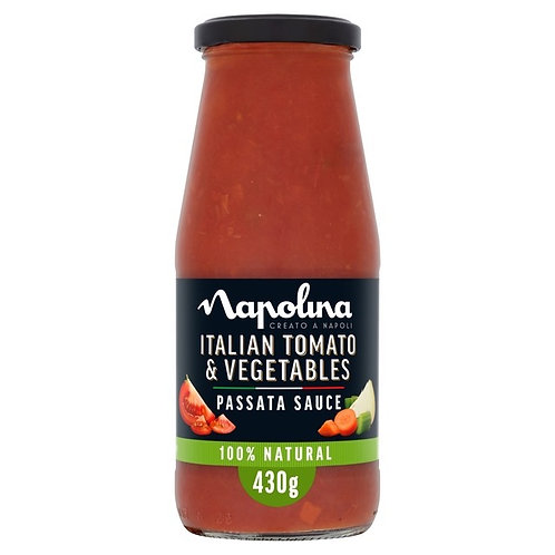 Napolina Tom/ Veg passata 430g  2 for