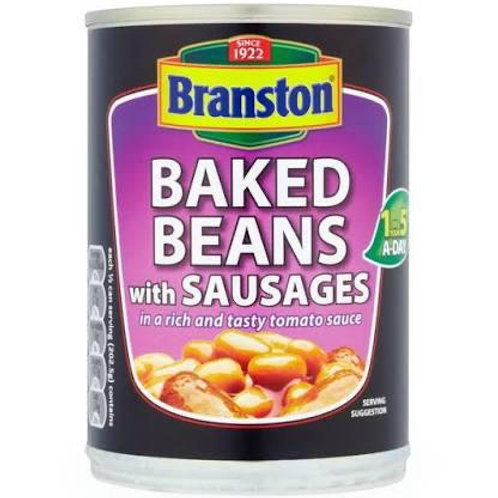 Branson baked beans with sausages 2 for