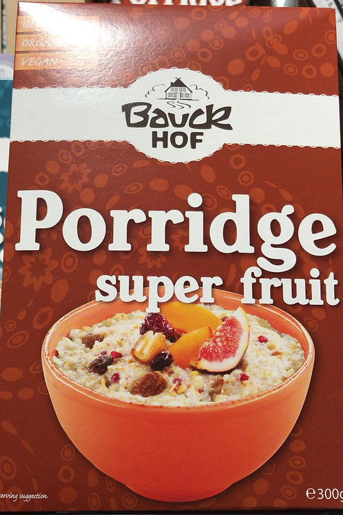 Porridge super fruit gluten free