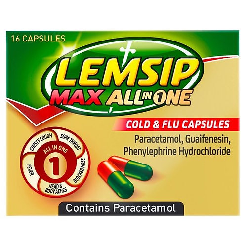 Lemsip Max All in one (2023 date)  16 capsule pk