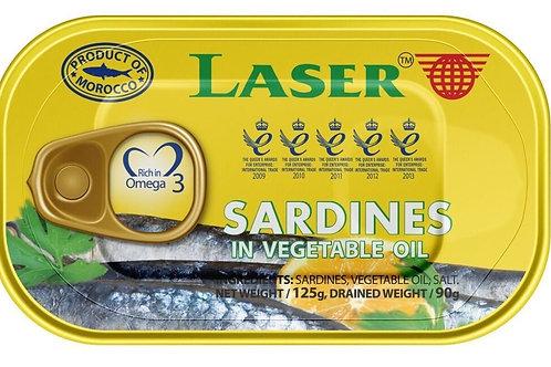 Laser Sardines in sunflower oil 125g