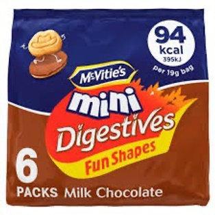 Mcvities mini digestives 6pk  x 2