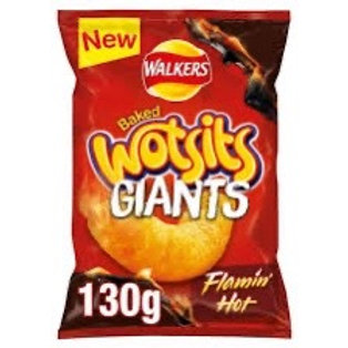 Giant Wotsits   flamin Hot 9x 130g